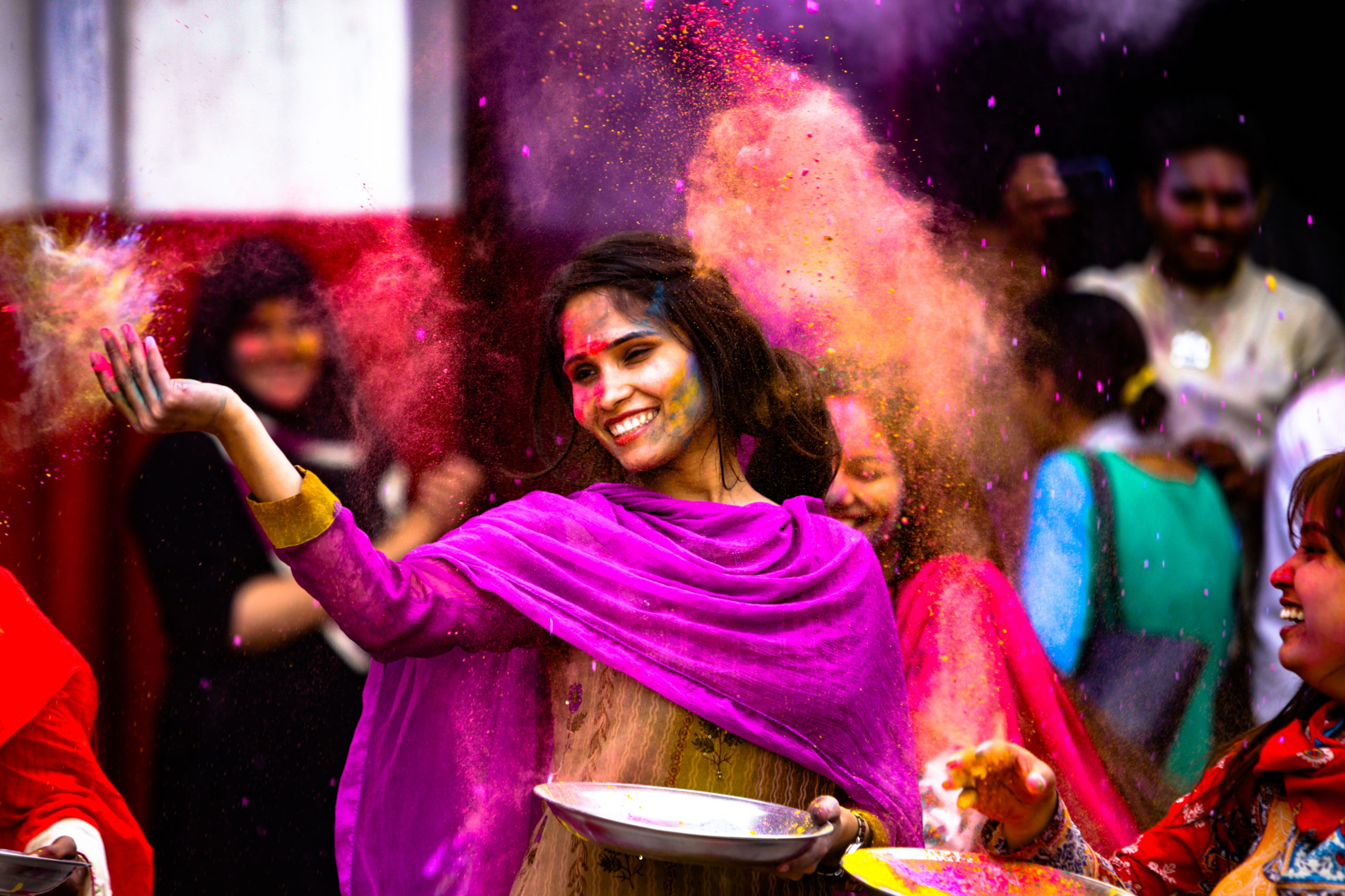 colorful Holi festival celebration
